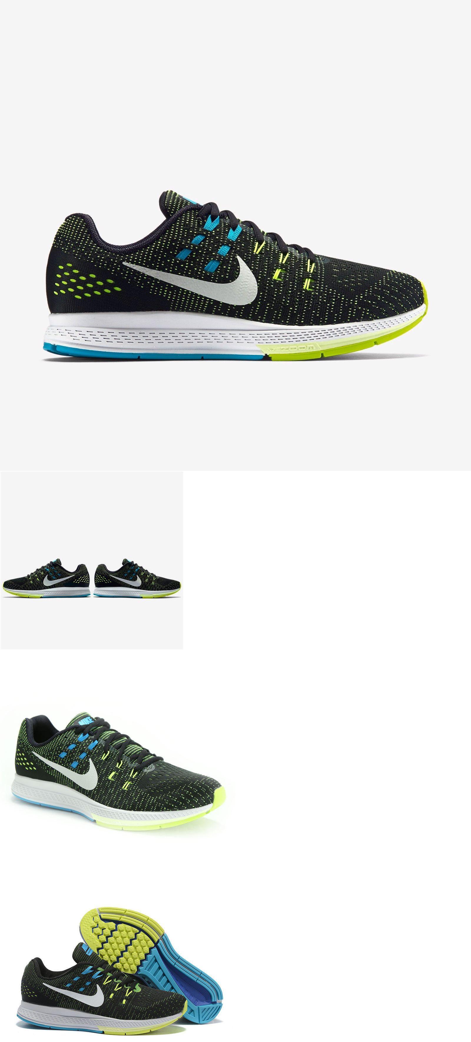 Men 158952: Nike Men S Air Zoom Structure 19 - Black Platinum-Volt-