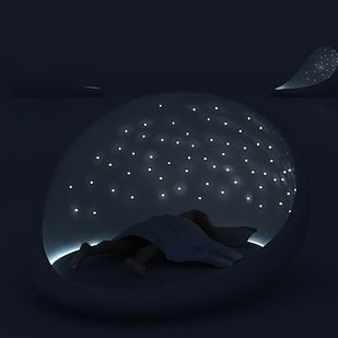 """The """"cosmos bed"""" that is basically like camping every night under the stars.   30 Impossibly Cozy Places You Could Die Happy In"""