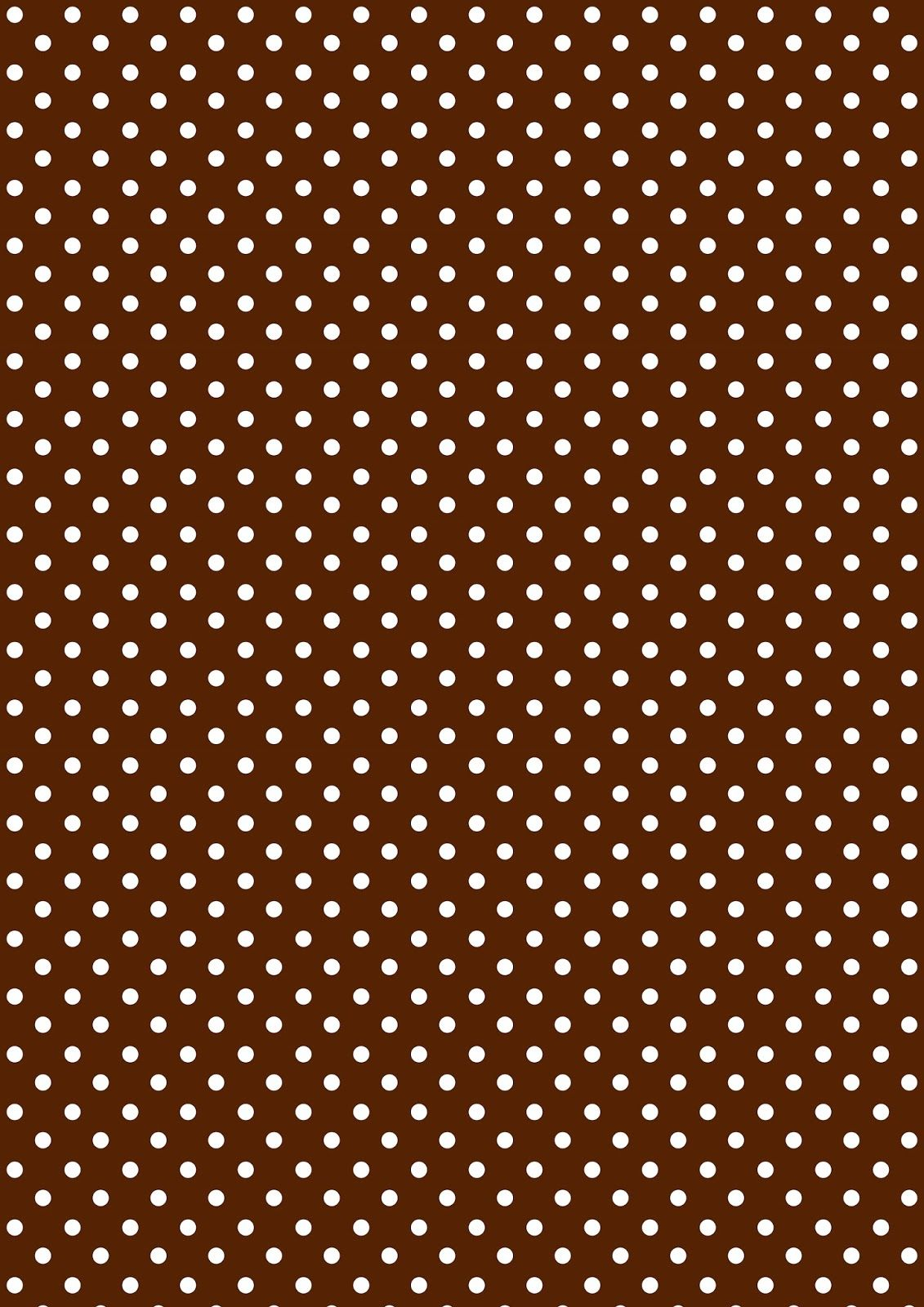 Free Printable Polka Dot Pattern Paper   Chocolate Brown And