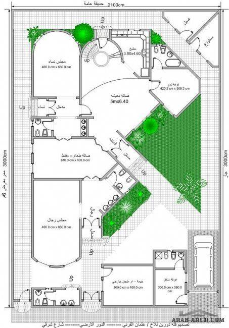 خرائط بيت المستقبل مخطط 2 فيلا دورين Model House Plan Square House Plans House Construction Plan