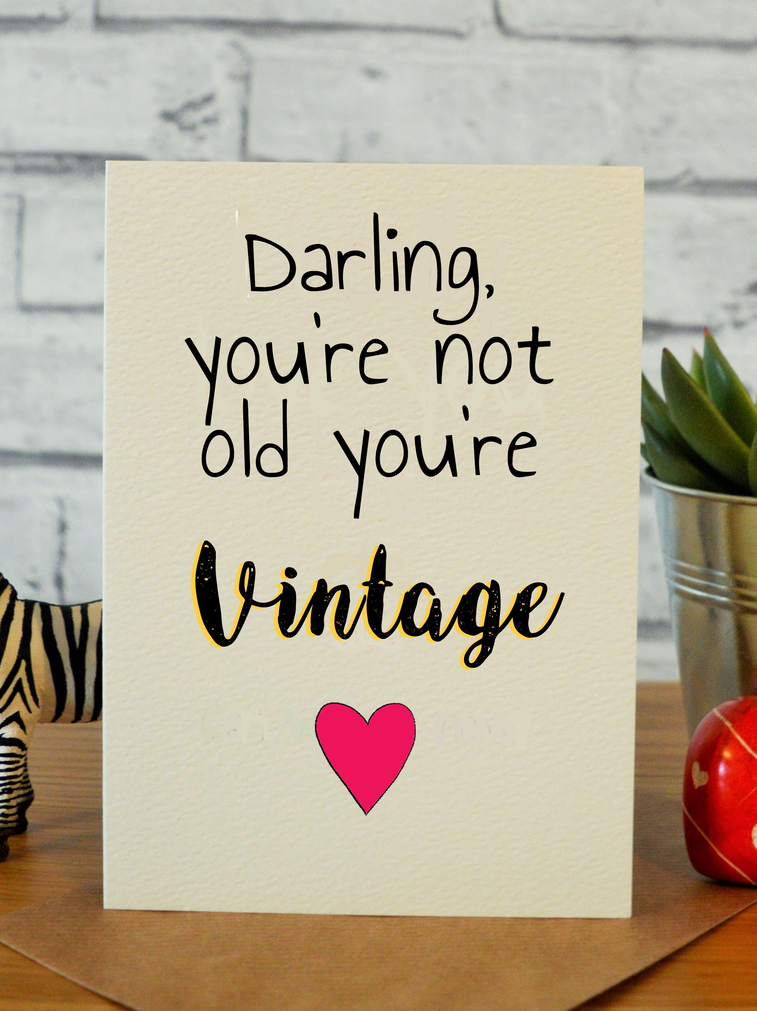 Not Old But Vintage Sister Birthday Funny 30th Birthday Cards And