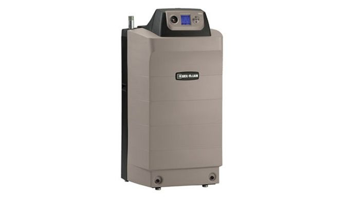 Ultra Series 3-UE Gas Boiler: •Gas fired water boiler with cast aluminum heat exchanger •Venturi mixing body mixes air and gas providing higher efficiency •Designed to operate in low temperature condensing applications •Outdoor reset and domestic hot water priority standard •Negative regulated gas valve precisely delivers gas to the boiler