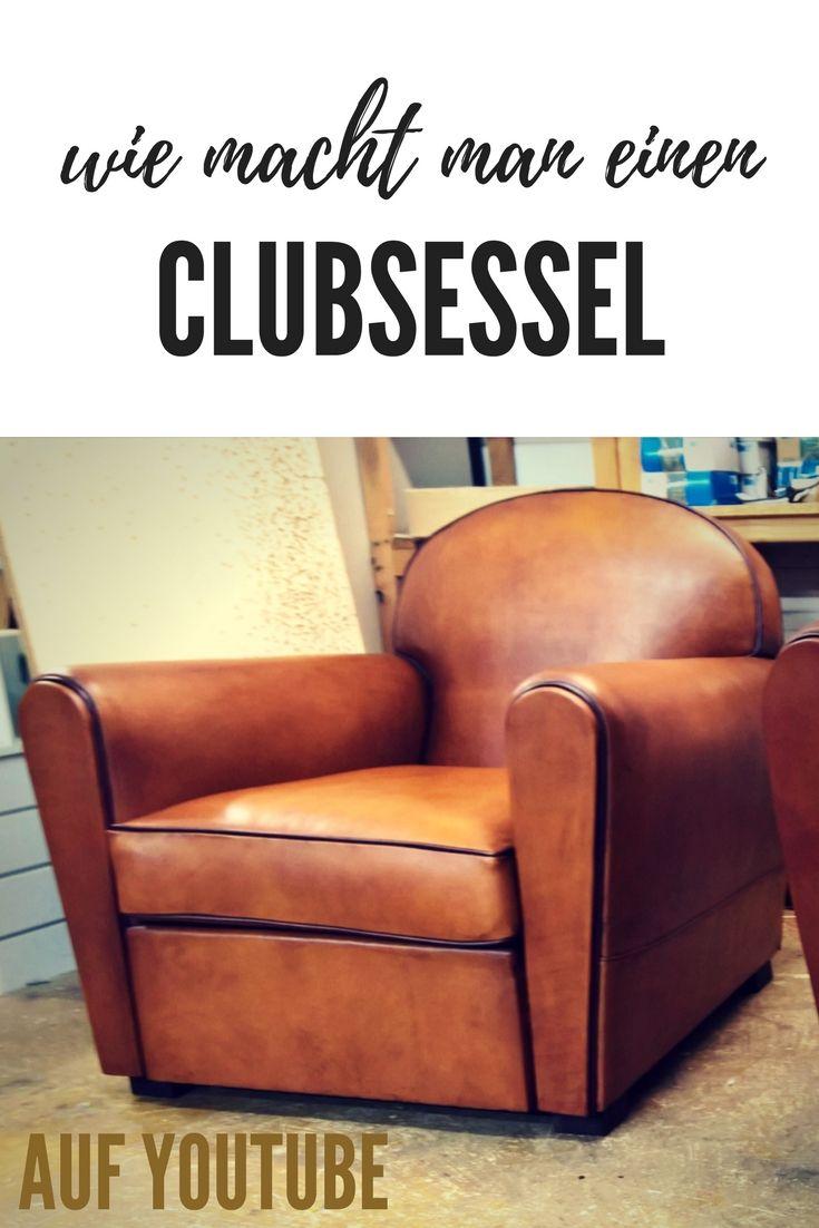 Wie macht man einen clubsessel | Fauteuil club, Fauteuil ...