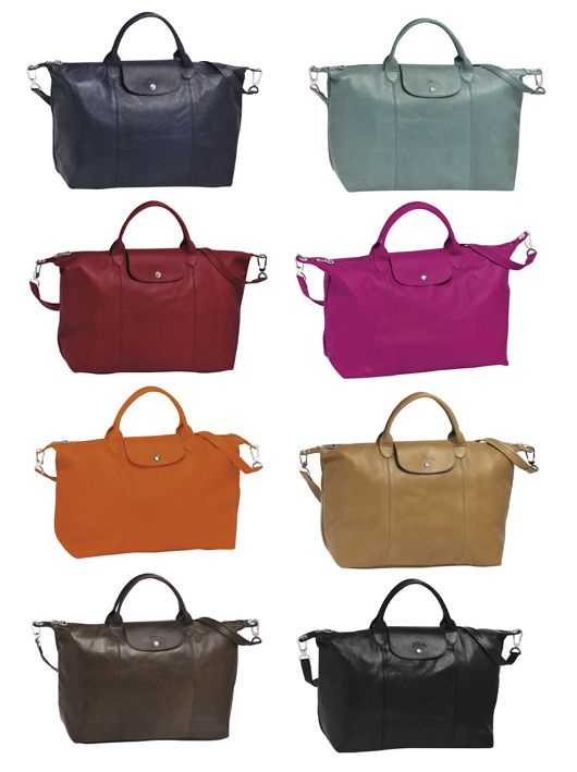 dde9502ced Longchamp Le Pliage Cuir as known as the Famous Folding Bag in Leather.  Dont be envious - it could be yours!