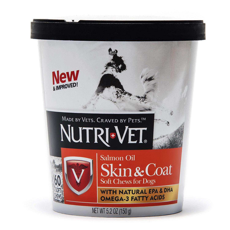 Nutri Vet Skin Coat Soft Chews 60ct 35 Lb Oils For Skin