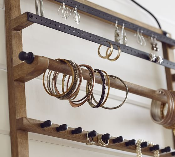 Pine Amp Iron Wall Mounted Jewelry Hanger At Pottery Barn