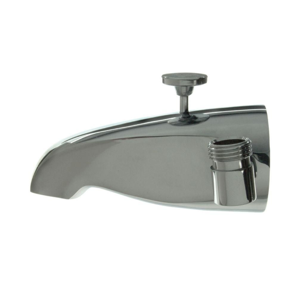 5 In Tub Spout With Shower Connection In Polished Chrome Tub Spout