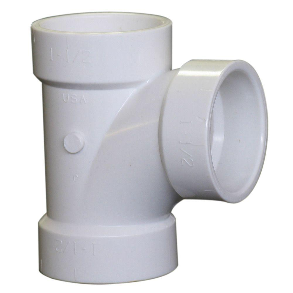 Nibco 4 In Pvc Dwv Hub X Hub X Hub Sanitary Tee C4811hd4 The Home Depot Pvc Fittings Sanitary Fittings
