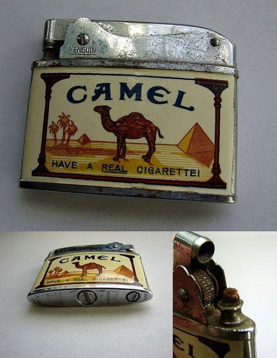 Vintage Lighter Penguin Camel Advertising by TimeEnoughAtLast, $14.95