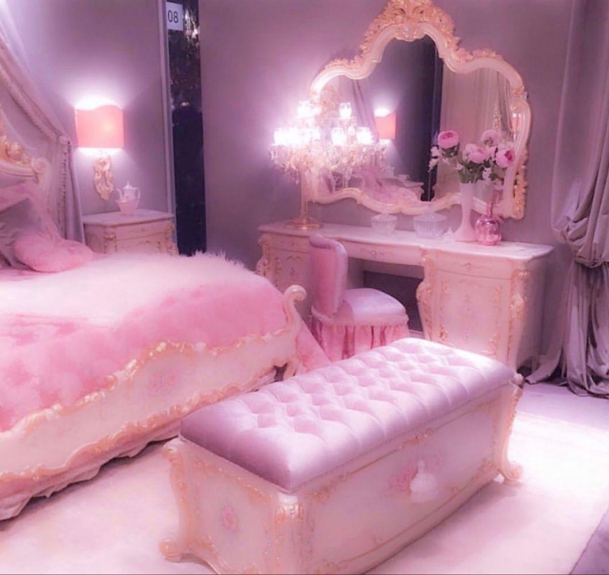 Baby Pink Princess Room In 2020 Pink Princess Room Pink Room Pink Walls