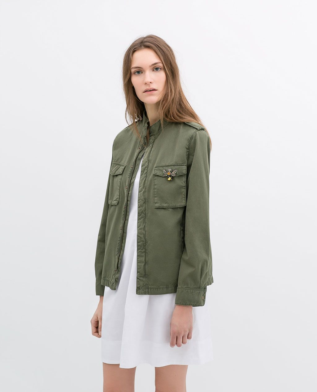 ZARA WOMAN OVERSHIRT WITH BROOCH | I love Clothes