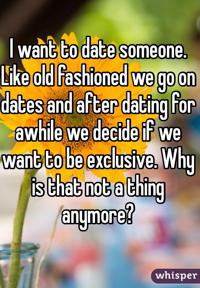 dating exclusive or not