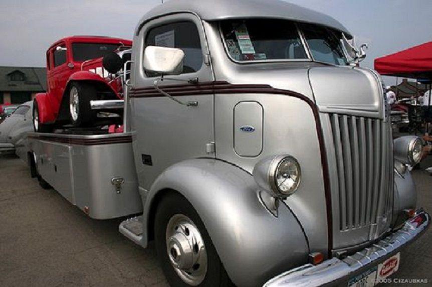 1947 Ford COE Silver Car Hauler.   Classic & Custom Car Haulers ...