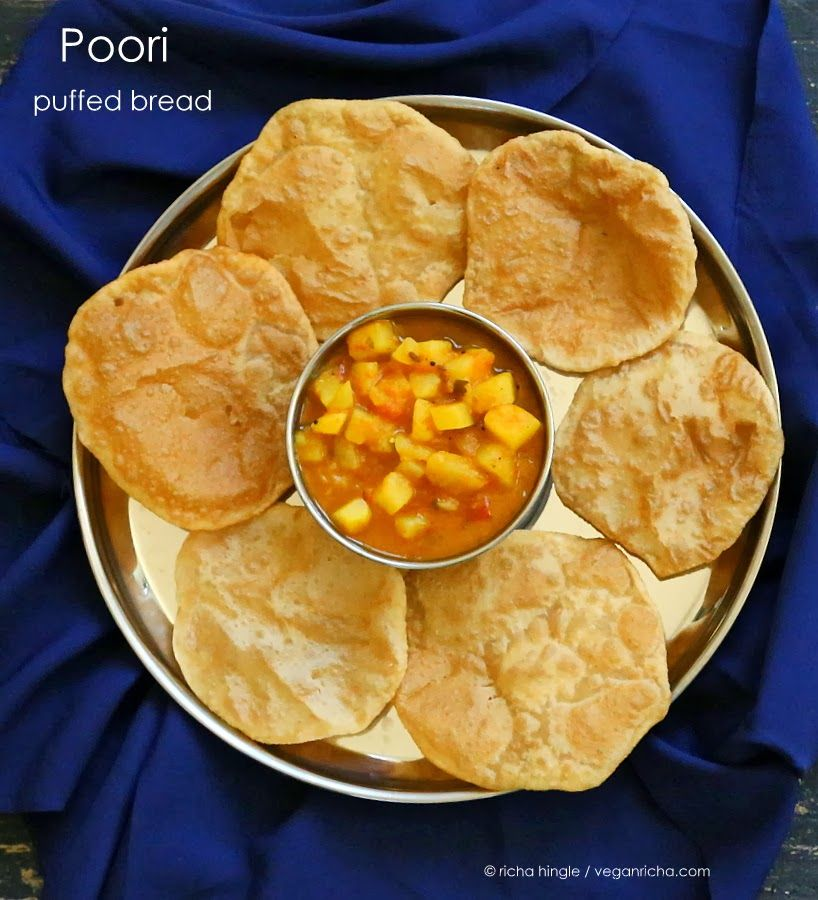 Poori aloo puffed bread with potatoes in tomato gravy vegan poori aloo puffed bread with potatoes in tomato gravy vegan recipe forumfinder Images