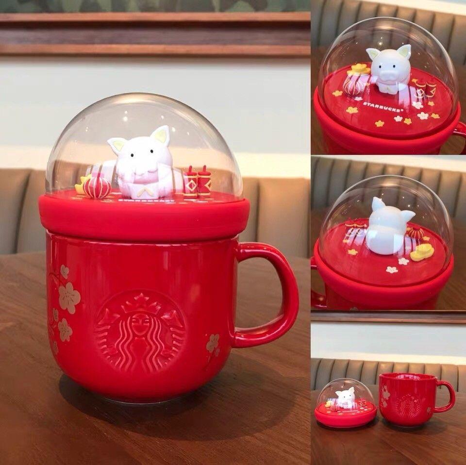 New China 2019 Starbucks Chinese New Year Golden Pig Colorful 14oz Mug Ebay Mugs New Year S Food Christmas Cookies Decorated