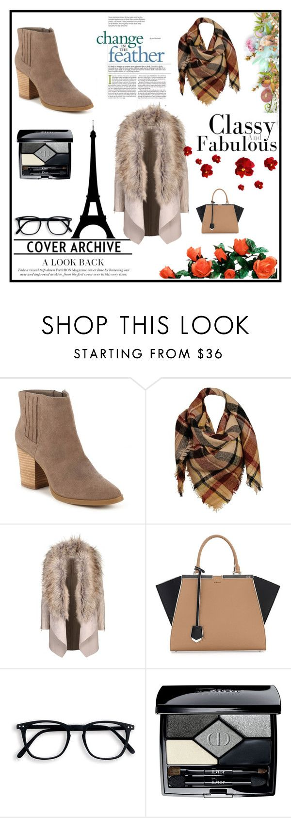"""""""Scarfs x"""" by xpinkplaymatex ❤ liked on Polyvore featuring Madden Girl, Sylvia Alexander, Fendi and Christian Dior"""