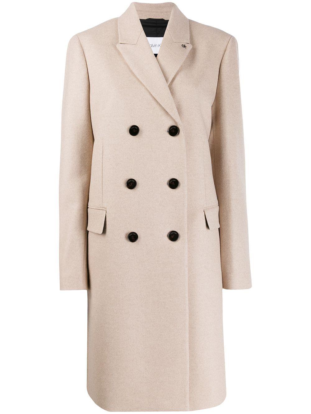Calvin Klein Crombie Double Breasted Coat Farfetch Double Breasted Coat Coat Calvin Klein