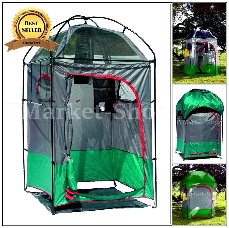 Deluxe Portable Shower Changing Shelter Tent C&ing Outdoor Room Toilet Privacy & Deluxe Portable Shower Changing Shelter Tent Camping Outdoor Room ...