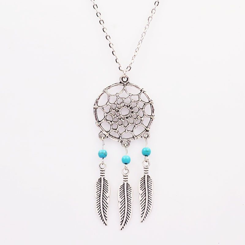 Fashion Turquoise Dream Catcher Gift Pendant Chain Necklace Jewelry