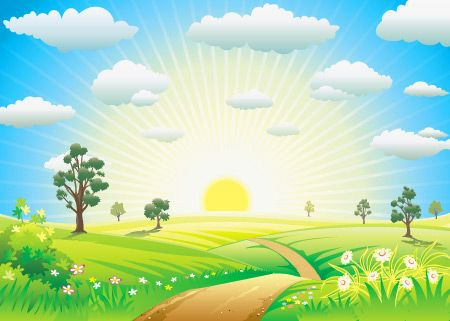 Free Vector Morning Nature Nature Vector Background Vector Free