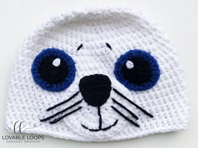 Free Seal Hat Crochet Pattern | Adult & Children\'s Holiday Clothing ...