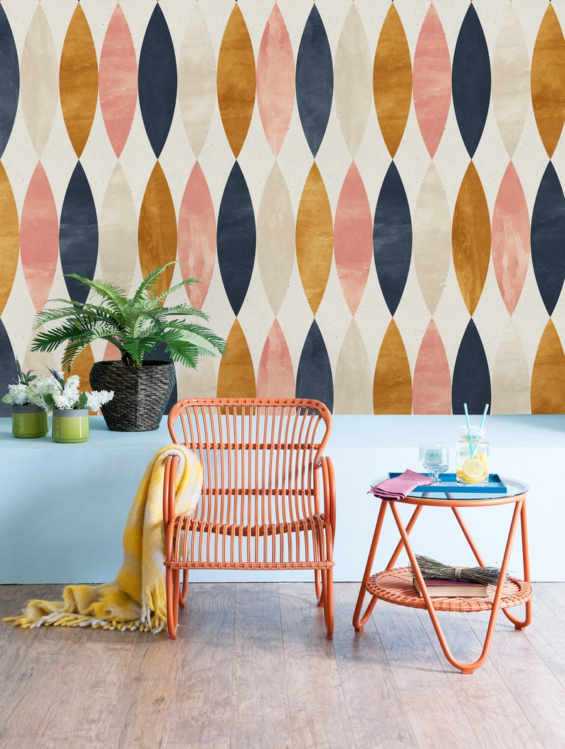 Removable Wallpaper Peel And Stick Wallpaper Self Adhesive Etsy Removable Wallpaper Peel And Stick Wallpaper Retro Wallpaper