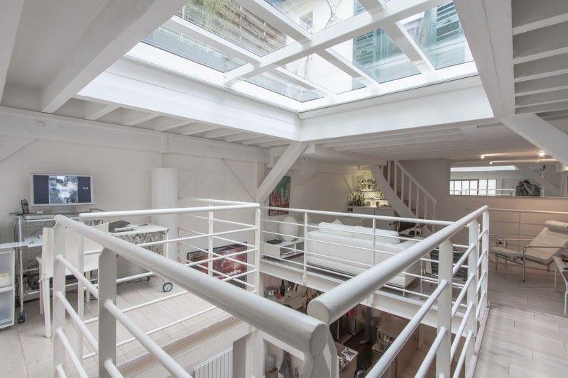 Loft avec toit-terrasse en verre à Paris Interiors - maison avec toit en verre