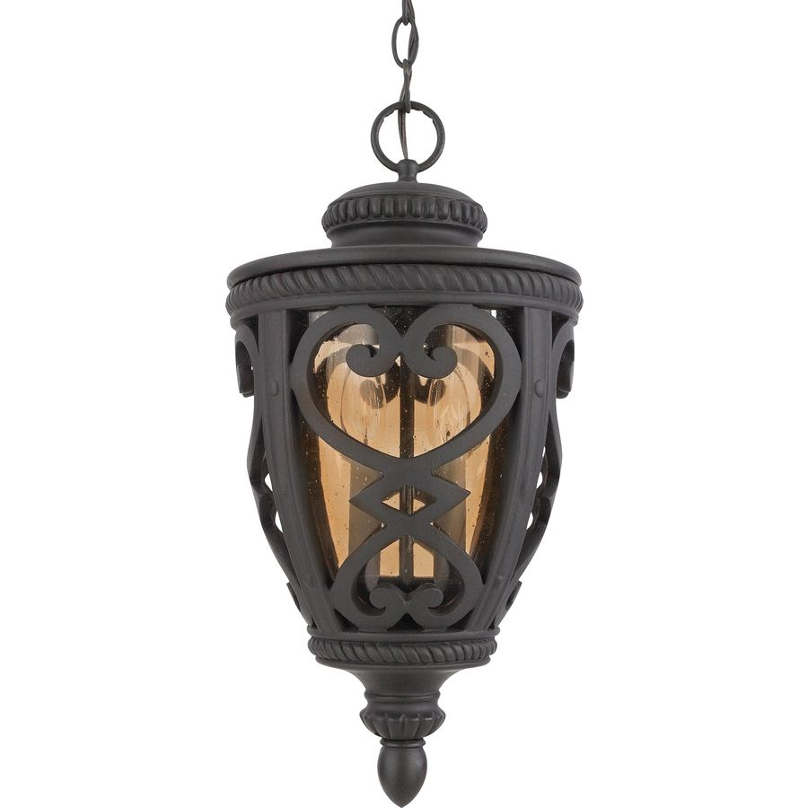 Allen + Roth Grandura 18.5 In Marcado Black Outdoor Pendant Light