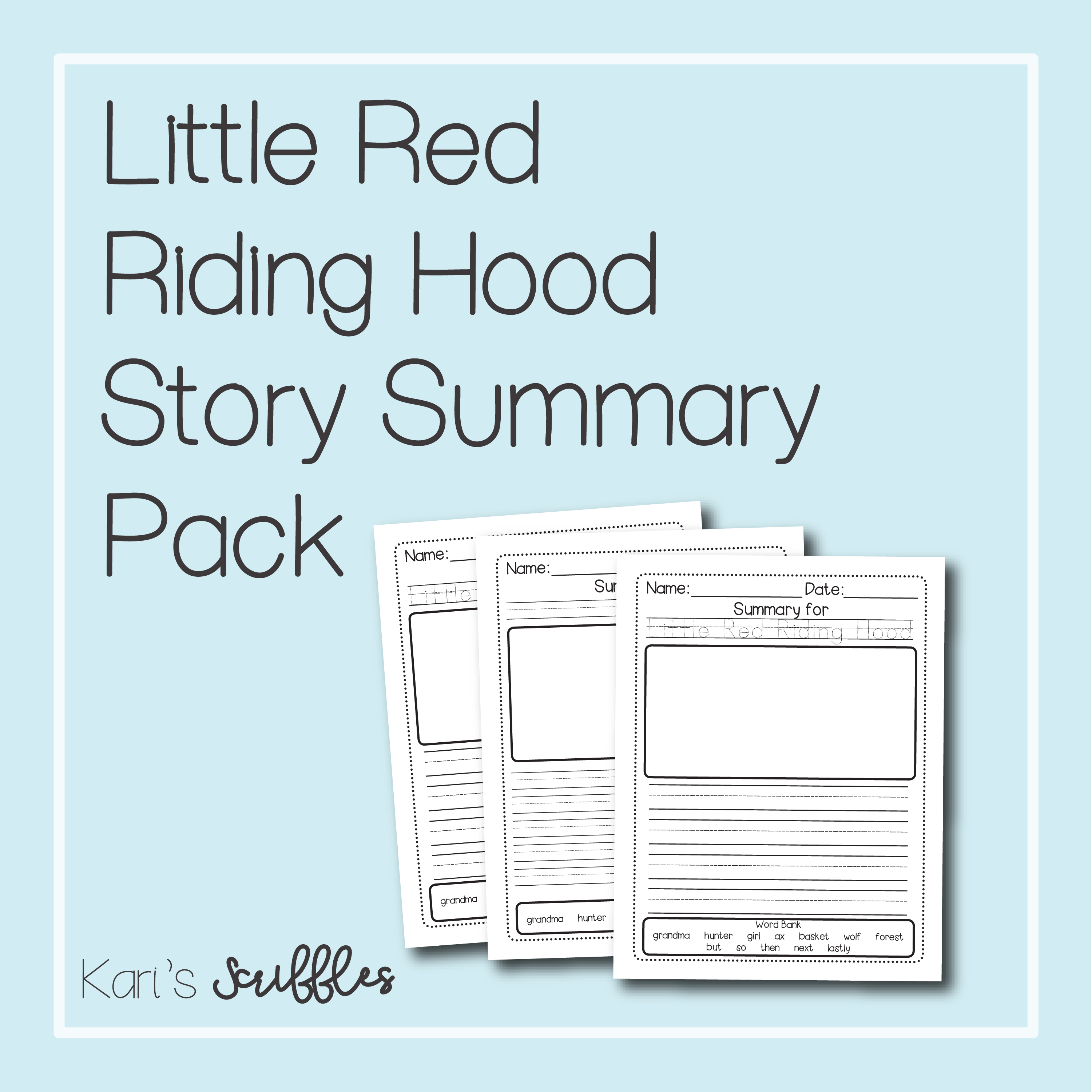 Little Red Riding Hood Summary Pack