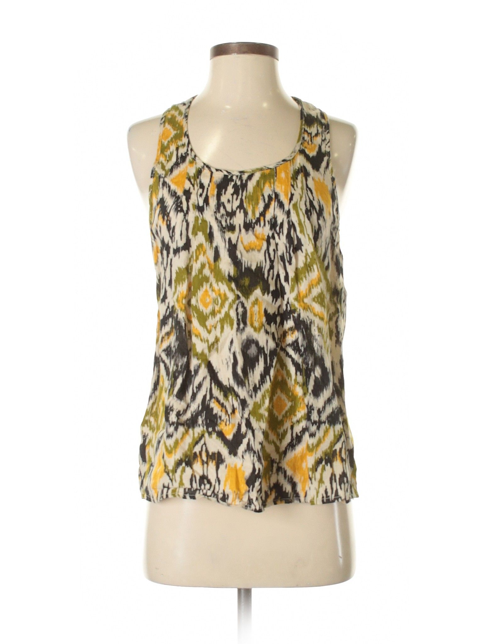d12abd6949774 Cynthia Rowley for T.J. Maxx Sleeveless Blouse: Size 4.00 Green Women's  Tops - $12.99