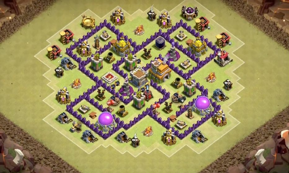 Best War Base Coc Th 7 Anti Dragon 11