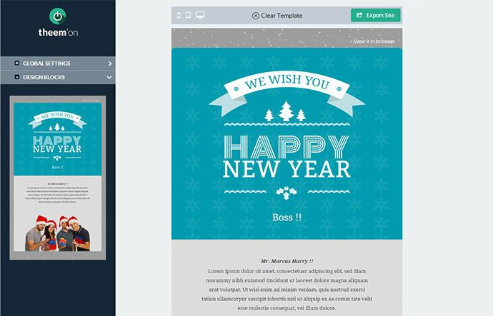 New Year Email Template | 20 Wonderful Christmas New Year Email Templates