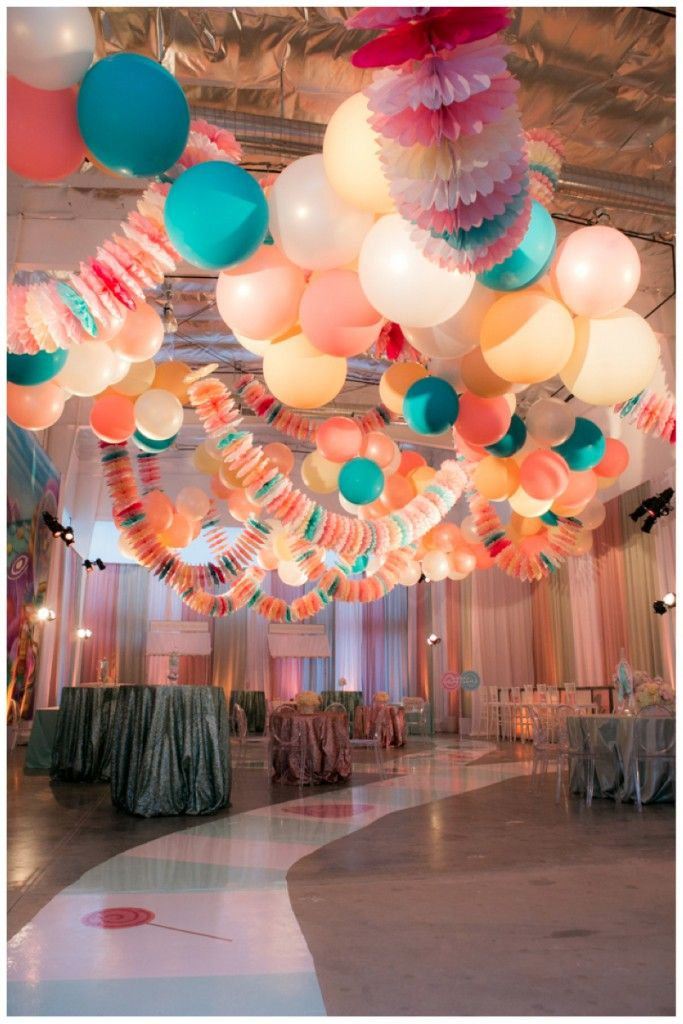 Tissue Fans Strung Into A Garland Candy Decorations Party Ceiling Bat