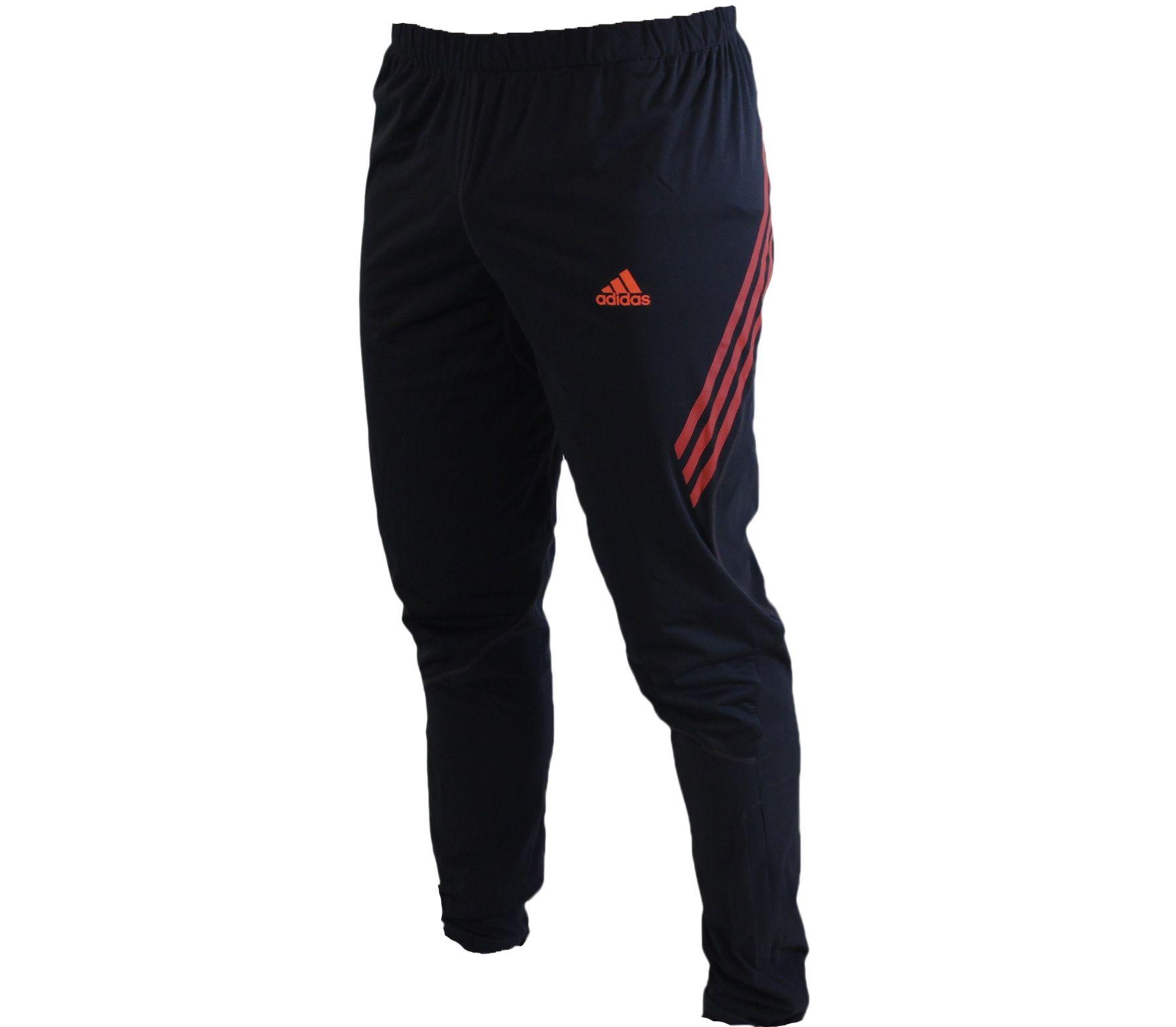 Adidas - Running Pants Adizero Wind Proof Pant gray/red ...