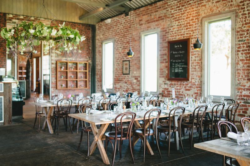 Rustic Wedding Furniture Hire Melbourne Marie And Kevin Red Hill Whispering Vine Cafe