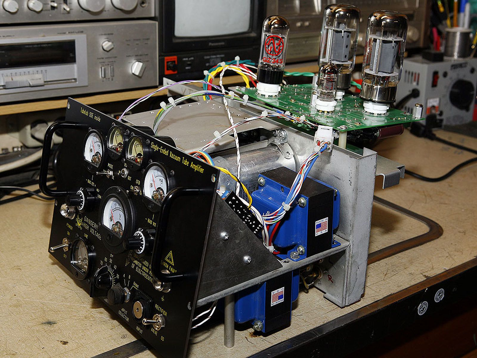 One of a kind Single-Ended Triode Tube Amplifier for your Man Cave