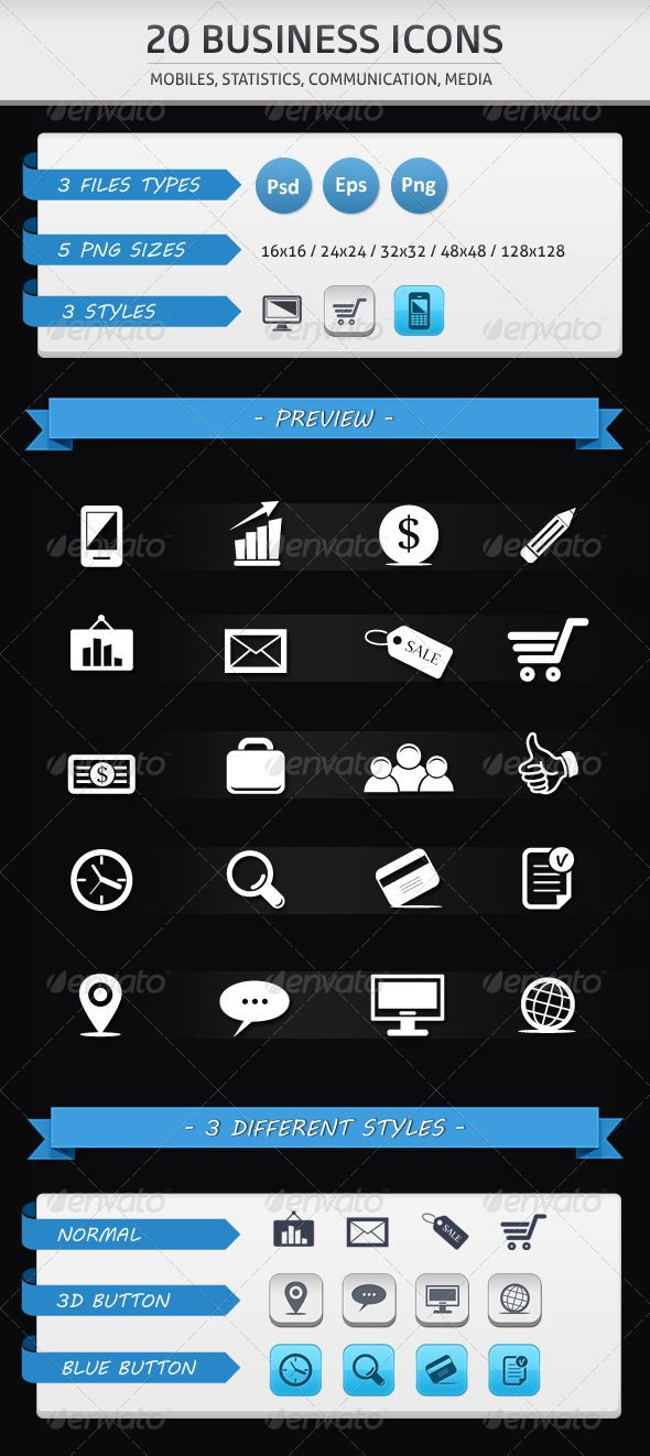 Business Icons Business Icon Icon Trifold Templates