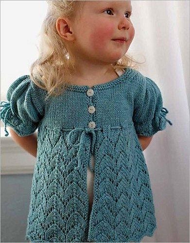 ce62403e0 Knitting pattern for lace baby and toddler cardigan sweater ...