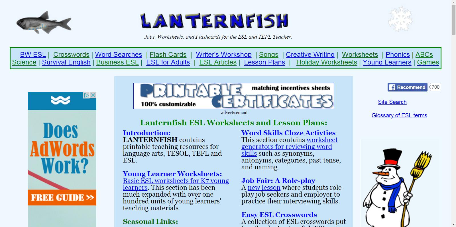 ESL Teacher Resources, Job Boards, and Worksheets | Teaching ESL ...
