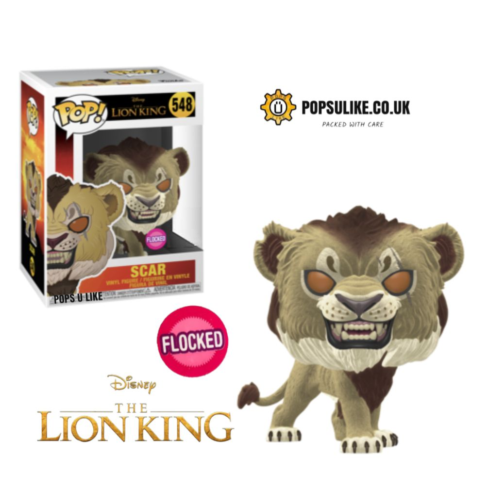 FUNKO POP VINYL THE LION KING LIVE ACTION 548 SCAR FLOCKED PREORDER