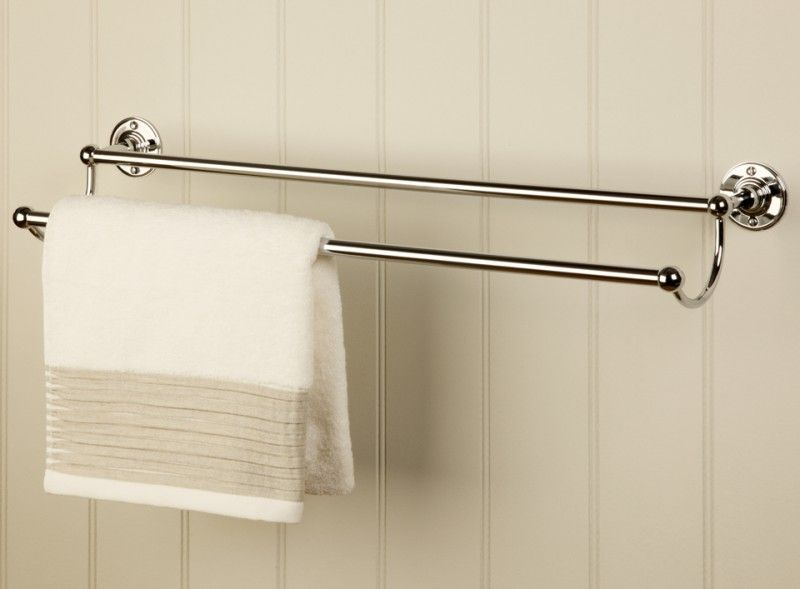 double towel rail bathroom accessories buy online at catchpole rye - Bathroom Accessories Towel Rail