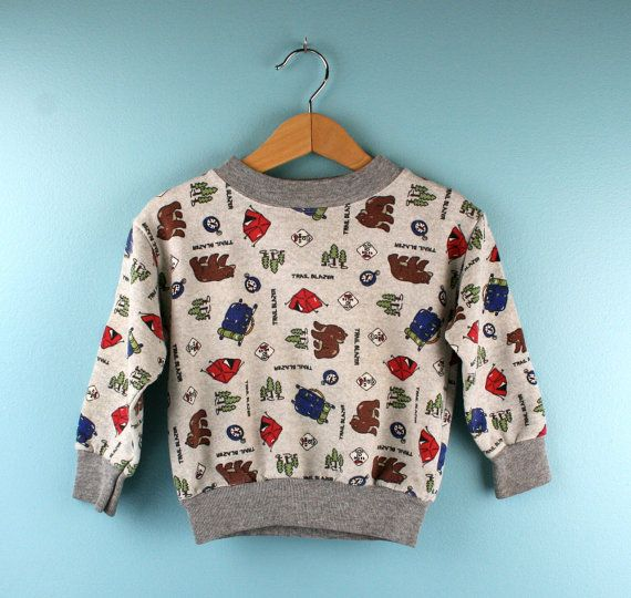 Vintage Sweatshirt by Garanimals 3T Camping Theme
