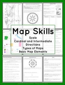 Map Skills Package | TpT Social Studies Lessons | Map skills
