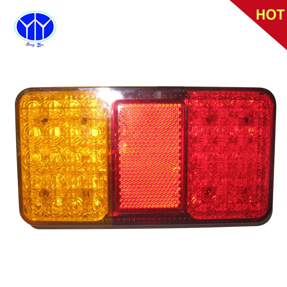 Car Rear Tail Lights For Trailers 12v 24 Brake Stop For Vehicle Lorry Truck Bus Led Trailer Taillights Lights Auto Combo Lamps Car Led Boat Trailer Tail Light