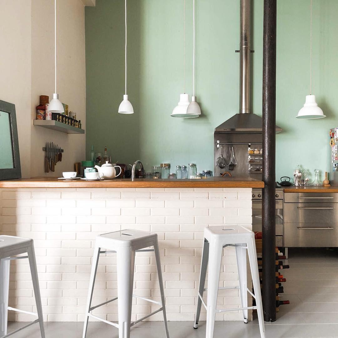 "onefinestay on Instagram ""White tiled breakfast bar with"
