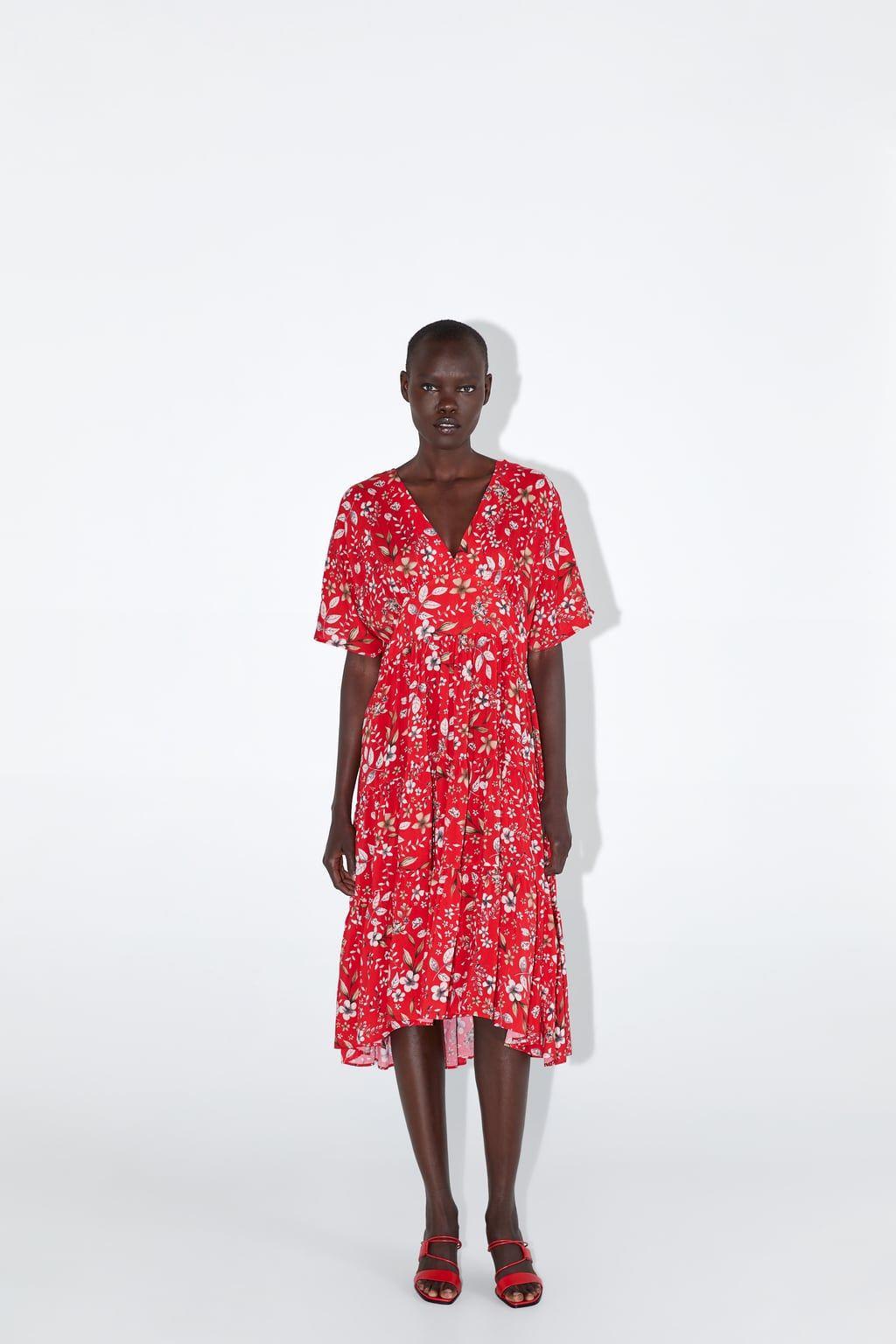 Floral print midi dress zara south africa in 2020
