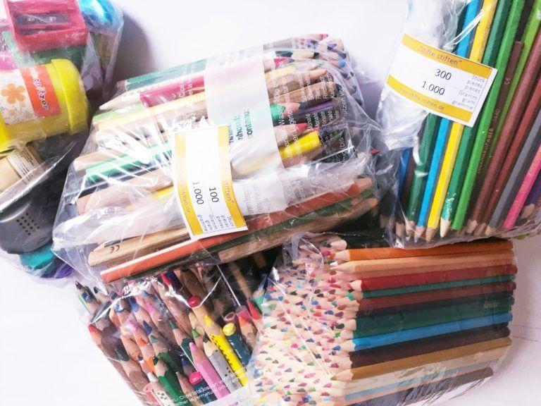 Wohin mit Stiften und ausgemisteten Schulmaterial?