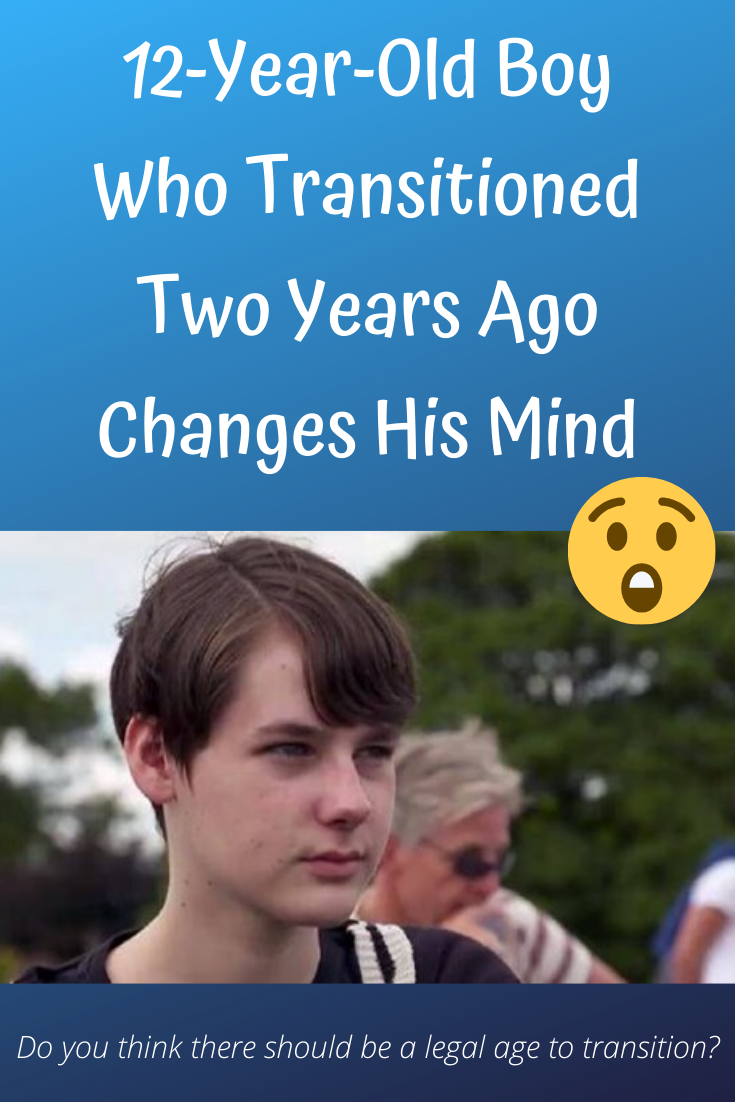 12 Year Old Boy Who Transitioned Two Years Ago Changes His Mind Amazing Photography 12 Year Old Boy Old Boys