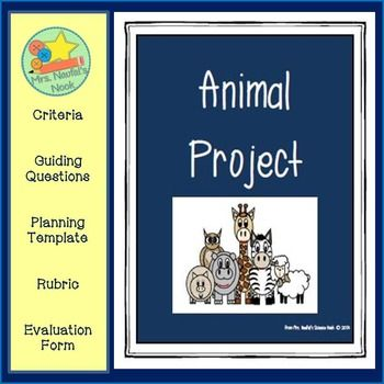 Animals - Science Project Parent notes, Teacher evaluation and - how to create evaluation form