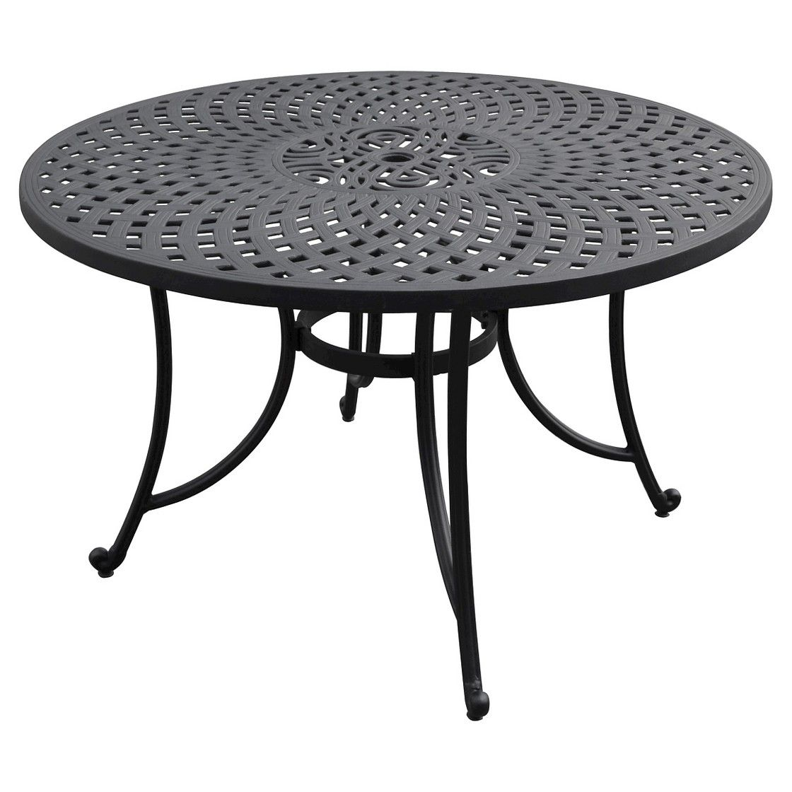 Aluminum Dining Table - Black